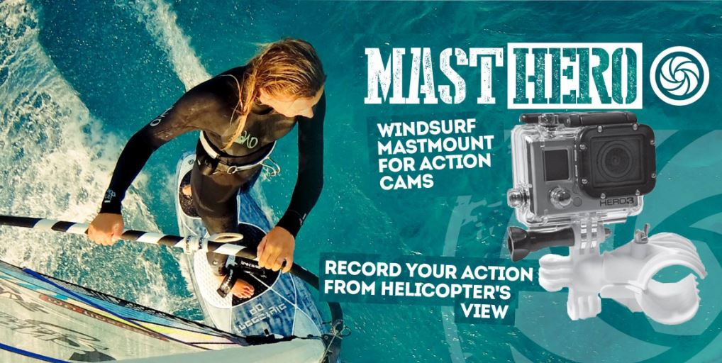 Windsurf mastmount for go pro